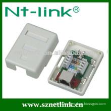 Single port Cat5e STP RJ45 surface mount outlet box