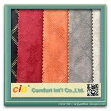 Fashion Popular Plain Embroider Designs Microfiber Fabric For Sofa