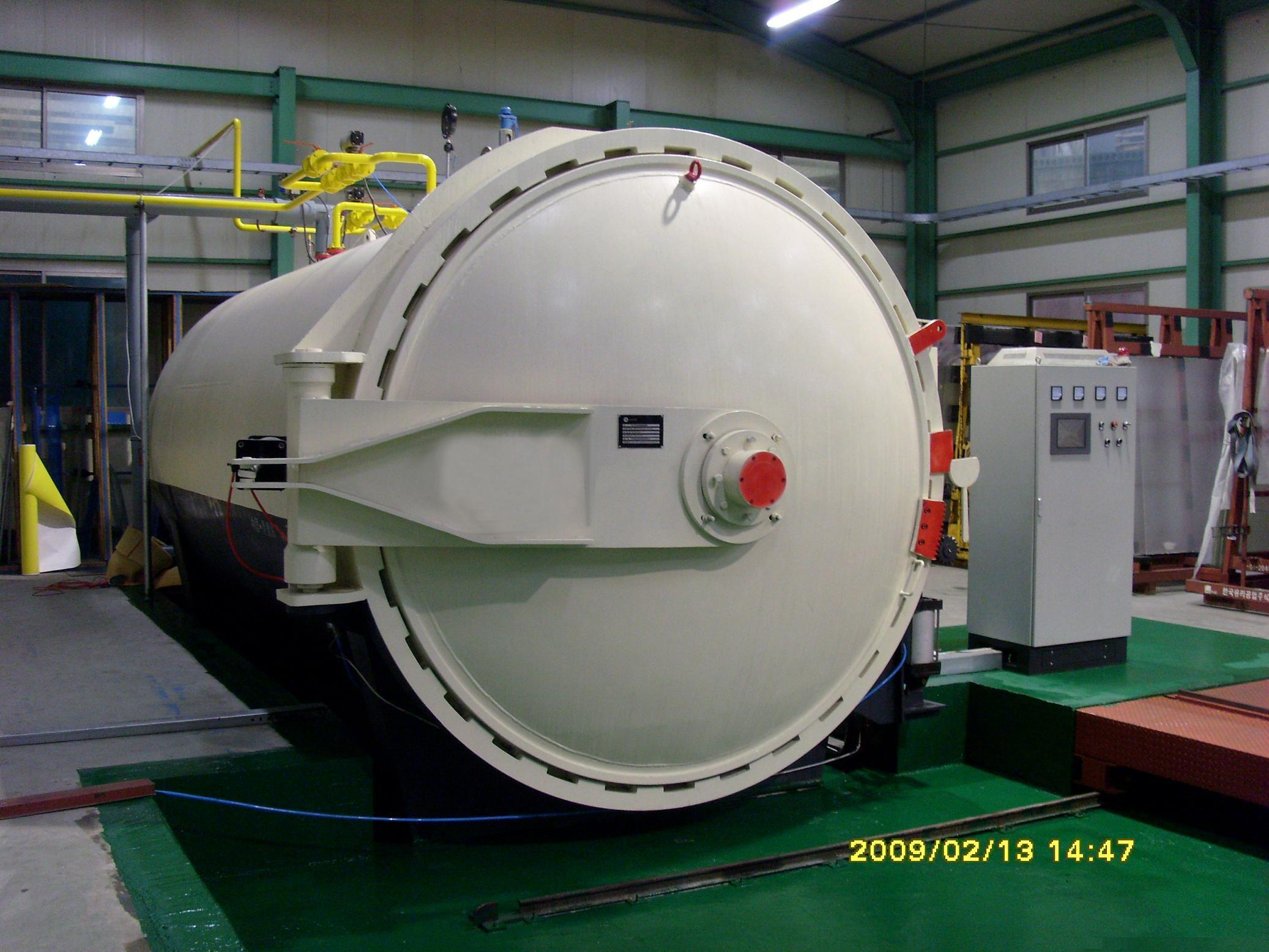 Diameter 3m glass autoclave