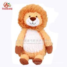 Brinquedo macio relativo à promoção elegante do luxuoso do leão dos desenhos animados do presente do miúdo