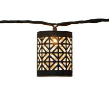 Guirlande lumineuse décorative étanche en métal marron LED