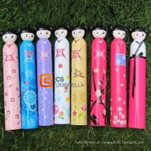 Boneca japonesa estilo adorável garrafa guarda-chuva (YSB002B)
