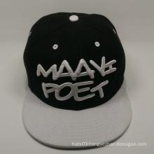 Plain design 3d embroidery hip hop cap