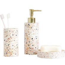 Factory Hotel Porcelain Ceramic Bath Set Bathroom Accessory Set