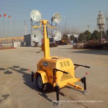 Torre de luz móvil tipo remolque Torre de luz de generador diesel de 7 m FZMTC-1000B