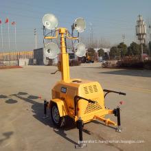 Trailer type mobile light tower 7m diesel generator light tower FZMTC-1000B