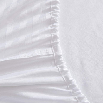Bomullsmonterade Sateen Stripe Fitted Sheets