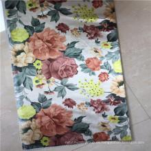 100% poliéster Flores Tela de impresión para cortina