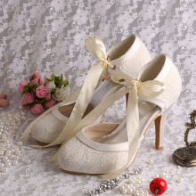 High+Heel+Ivory+Bridal+Shoes+Lace