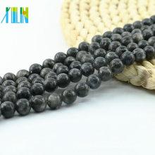 L-0100 Großhandel Bling Black Labradorit natürlichen Edelstein Perlen für Schmuck machen