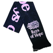 Hot Selling Custom logo  Cheap Other Size other scarves knitted polyester scarf sports football fan scarf