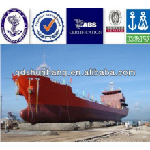 Airbags pneumáticos do fornecedor 1.2Mx18M de China usados para o lançamento das embarcações do petroleiro de óleo