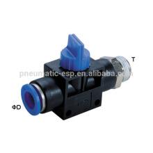 filetage droit HVFS robinets à main raccords pneumatiques