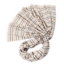Inner Mongolia factory pure wool Stripe Scarf SWI0049 lengthened winter spot scarf wholesale
