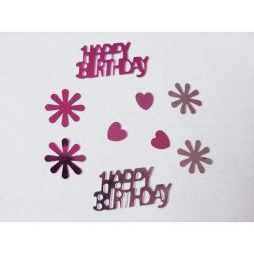 Feliz aniversário glitter confete