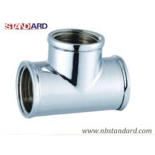Nickel Plated Tee/Brass Fitting/Plumbing/Equal