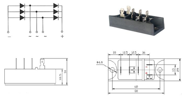 Rectifier Bridge MDS40(1)