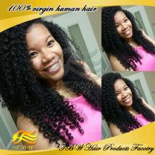 Новая мода бразильского Виргинские человеческих волос кудрявый вьющиеся кружева 2014 парики для небольших глав