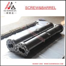 Tornillo gemelo paralelo KMD75 y cilindro para extrusión de gránulos de PVC