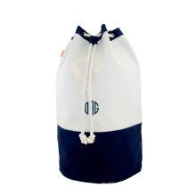Reusable 100% cotton heavy duty laundry bag drawstring canvas hotel laundry bag