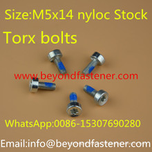 Torx Screw Bolts Nyloc Screw