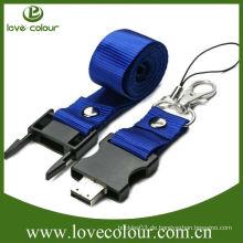 Kundenspezifische kostenlose Probe Werbe-Lanyard für USB / Key