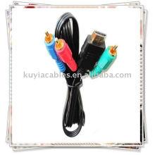 Nouveau câble HDMI vers 3RCA Câble de conversion de composant vidéo