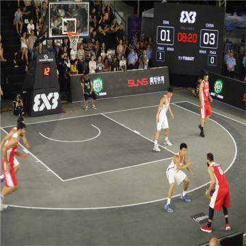 FIBA 3X3 usado Outdoor Basketball Court Mat