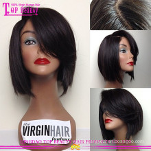 Factor price 100% human hair silk top lace front wig