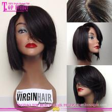 Ценовой фактор 100% человеческих волос шелковый топ кружева перед парик