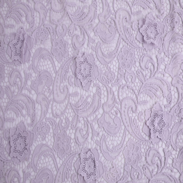 Elegantes Mily Garn 3D Flower Chemical Lace Fabric