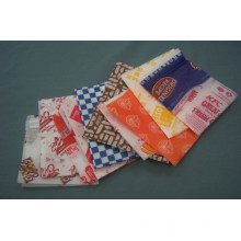 Papel Greaseproof Fast Food Paper Bag Descartáveis Pão Food Pizze Hamburger Container