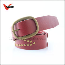 Fashion riveted mens leather belt