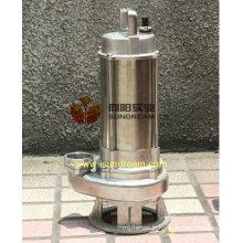 Pompes submersibles d'eaux d'égout en acier inoxydable