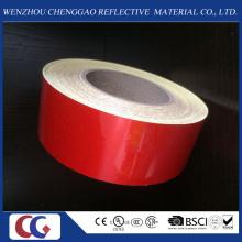 Fita de material reflexivo vermelho sólido publicidade grau na fábrica de China
