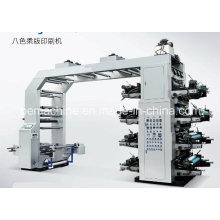 8 cores máquina de impressão flexográfica de alta velocidade (CE)