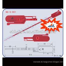 Pull-Tite-Dichtung BG-S-001, Dichtung Tag, Kunststoff-Schnurdichtung, Sicherheitsdichtungen Hersteller Lieferant in China, BagLock, RibLock