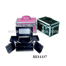 aluminum hairdressing carry cases with 2 drawers and 2 trays inside