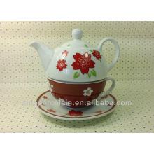 Popular Porcelain One Person Tea Set for BS13122C