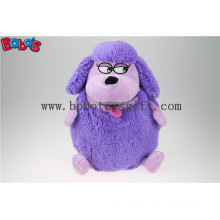 Factory Direct Sale Purple Plush Sheep Doll Toy Backpack with Big Mouth Bos1217