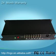 16 портов RJ45 для BNC видео конвертер оптического волокна мультиплексор