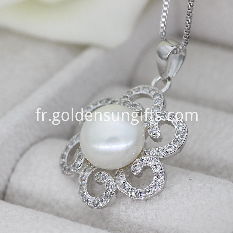 White Pearl Pendants
