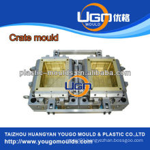 Crate commodity container mould machine professional stackable high quality plastic box injection mould machine