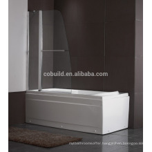 K-539 modern simple 304 stainless steel tub shower screen with CE certificate