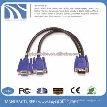 Diagramme de câblage du câble diviseur VGA de 15 à 15 broches vga cable