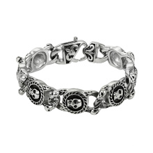 75469 XP wholesale new design stainless steel jewelry hiphop style skull bracelet