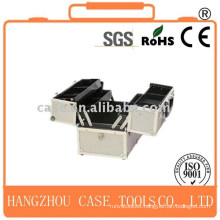 Aluminum cosmetic case tool box