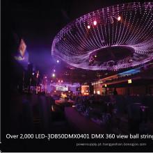 Bola endereçável leitosa do diodo emissor de luz do RGB de 50mm DMX