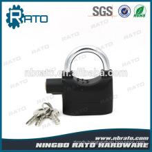 Aluminum Alloy Safe Door Anti-theft Black Alarm Lock with Certification