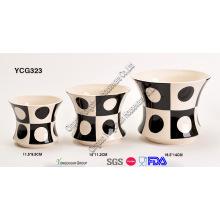 Ensemble de pot de plantes décoratives en porcelaine pour le commerce de gros